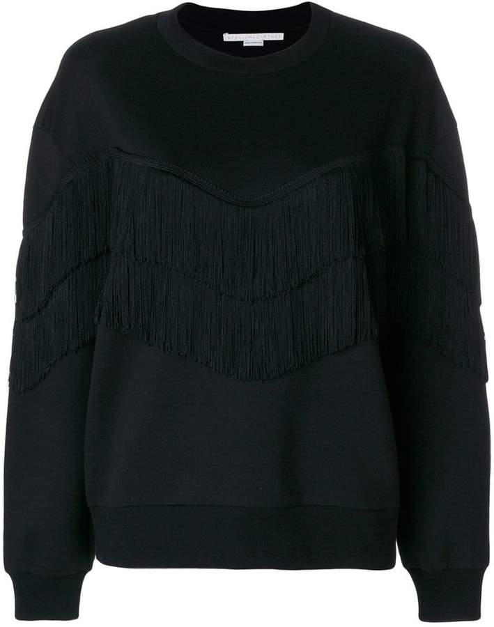 Stella McCartney fringe-trimmed sweatshirt