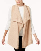 Kensie Draped Fuzzy Vest