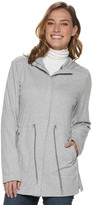 Croft & Barrow Women's Hooded Drawstring Waist Long Jacket