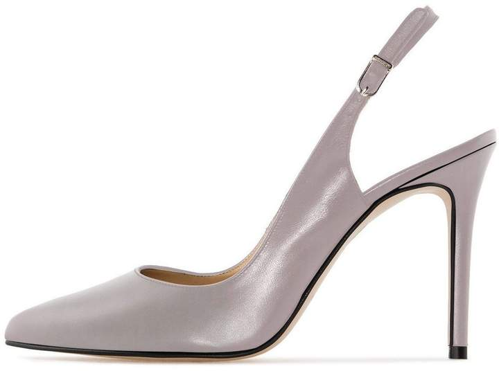 d6e3370176f12 Sammitop Women's Slingback Pumps High Heel Closed Toe Elegant Party Office  Dress Shoes US10
