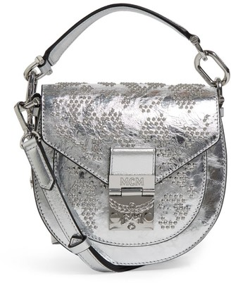 MCM Medium Metallic Patricia Shoulder Bag