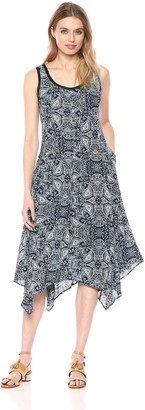 Jones New York Women's Summer Paisley PRT Handkerchief Dress