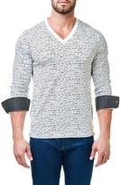 Men's Maceoo Print V-Neck Pullover