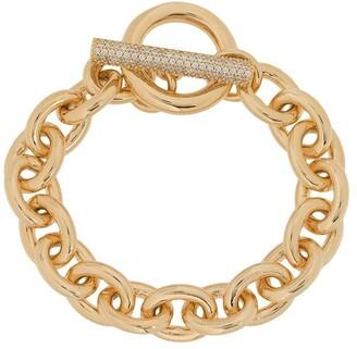 Numbering pave T-bar bracelet