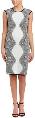 Nanette Lepore Nanette Women's Sleevelss Jacquard Swater Ddress W/Exposed Back Zipper