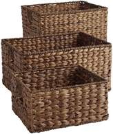 Pier 1 Imports Carson Espresso Wicker Shelf Storage Baskets