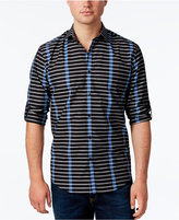 Alfani Men's Stripe Long-Sleeve Shirt, Classic Fit, Only at Macy's