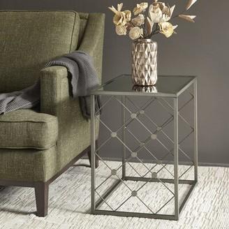 Martha Stewart Coyne Glass Top Frame End Table