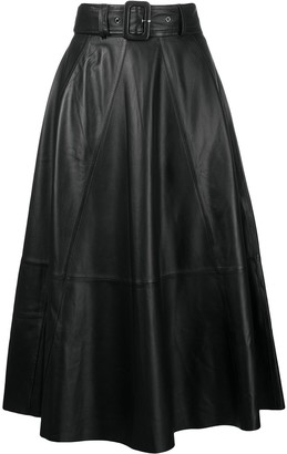 Incentive! Cashmere belted A-line skirt
