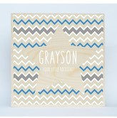 Someday Inc. 'Chevron Star' Personalized Birchwood Wall Art