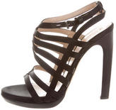 Reed Krakoff Satin Caged Sandals