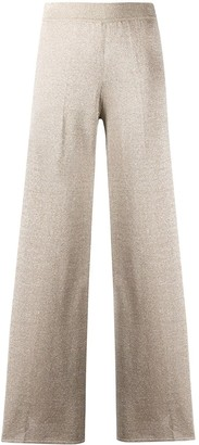 Missoni High-Waisted Shimmer Effect Palazzo Pants
