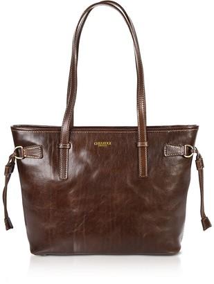 Chiarugi Genuine Leather Small Tote Bag