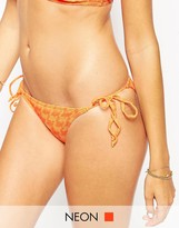 Asos Hounds Tooth Weave Tie Side Bikini Bottom