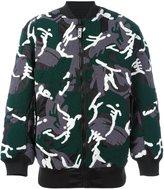 Kokon To Zai camouflage print bomber jacket