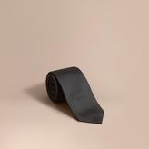 Burberry Modern Cut Silk Twill Tie, Black