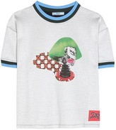 Prada Printed Cotton-blend Top