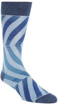 Bugatchi Men's Wave Stripe Crew Socks