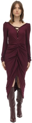 Andreas Kronthaler Draped Viscose Jersey Dress