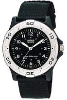 Lorus RRS61NX9 Boys' Sports Fabric Strap Watch, Black