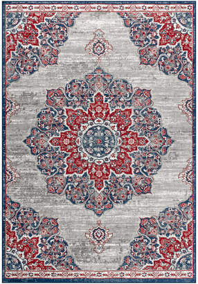 """Jonathan Y Designs Modern Persian Vintage Moroccan Medallion Navy and Red Rug, 5'3""""x7'6"""""""