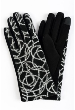 MARCUS ADLER Women's Embroidered Pattern Jersey Touchscreen Glove