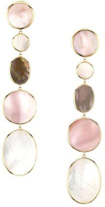 Ippolita Polished Rock Candy Long 18K Yellow Gold & Multi-Stone Mixed-Shape Earrings