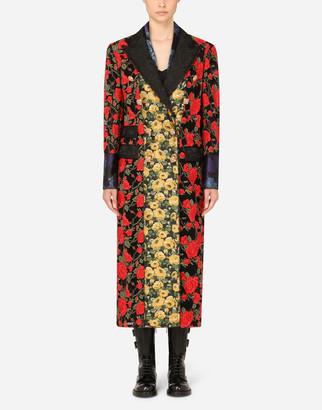 Dolce & Gabbana Macrame Rose Coat