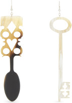 J.W.Anderson Irish spoon and key natural horn earrings