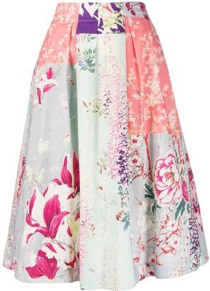 Etro Full Shape Floral Print Skirt
