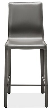 "Interlude Jada Bar Counter Stool Color: Gray, Seat Height: Counter Stool (26"" Seat Height)"