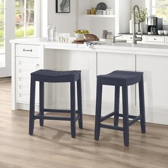 "Laurel Foundry Modern Farmhouse Apremont Bar and Counter Stool Seat Height: Counter Stool (24"" Seat Height), Frame Color: White"
