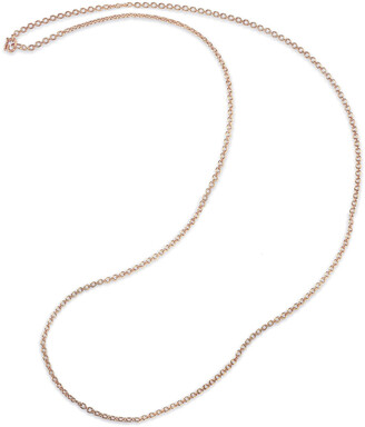 Irene Neuwirth 34 Inch Tiny Oval Link Rose Gold Chain