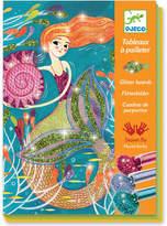 Djeco Mermaid glitter boards craft kit