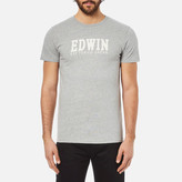 Edwin Men's Logo Type 2 TShirt - Grey Marl