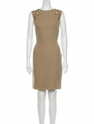 Lela Rose Wool Knee-Length Dress Rose