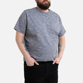 La Redoute Collections Plus Cotton T-Shirt with Crew Neck and Short Sleeves