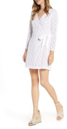 Lilly Pulitzer Tiki Long Sleeve Lace Faux Wrap Romper