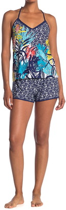 Jonquil Tropical Print Camisole & Shorts 2-Piece Pajama Set