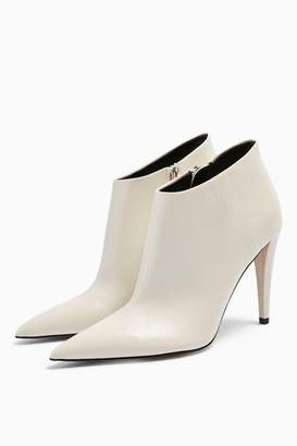 Topshop Womens Harlow White Point Boots - White