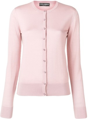 Dolce & Gabbana Crystal Button Front Cardigan