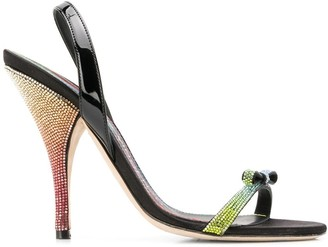 Marco De Vincenzo sandals with bow and rainbow heel