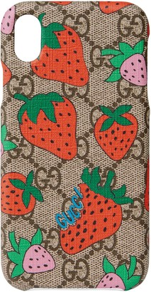 Gucci iPhone XR case with Strawberry