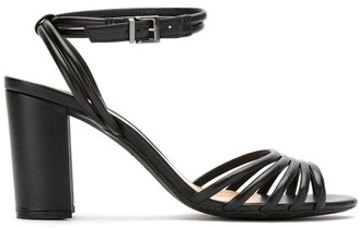 Schutz S2043800610011 BLACK Leather/Fur/Exotic Skins->Leather