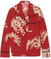 McQ Printed Crepe De Chine Shirt - Red
