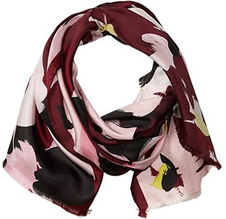 Kate Spade Brush Bloom Oblong Scarf (Mission Fig) Scarves