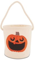 Mud Pie Pumpkin Bucket Tote - Ivory
