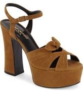 Saint Laurent 'Candy' Leather Platform Sandal (Women)