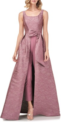 Kay Unger Sophie Shangtung Jacquard Maxi Romper