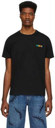 Moschino Black Multicolor Logo T-Shirt